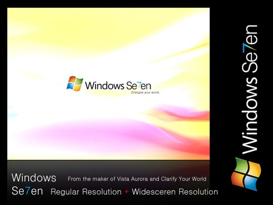 Windows 7 wall paper.new windows to succeed Windows VISTA