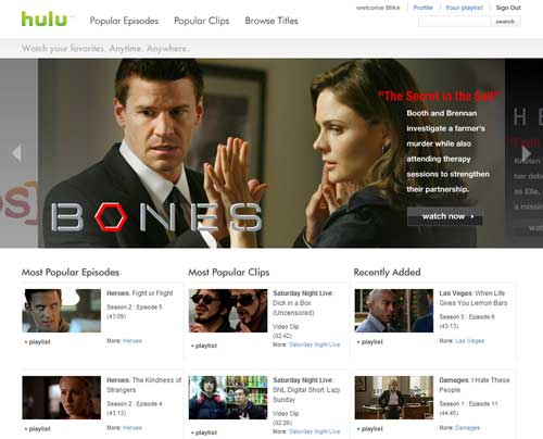 Hulu.com The Big Launch Youtube Killer