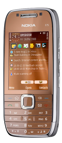 Nokia E75 copper