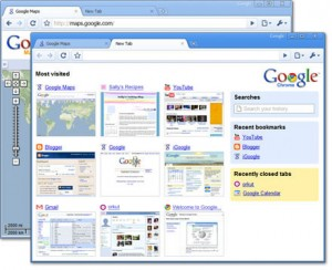 Google chrome Browsing history view