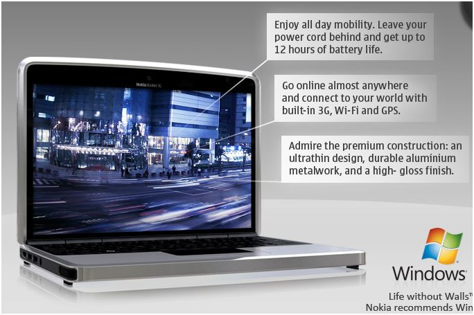 Nokia Booklet 3G Pictures and features